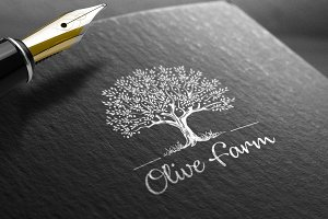 Olive Farm Logo Template