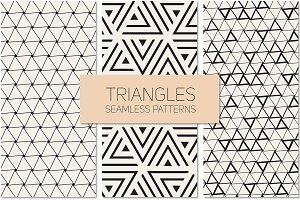 Triangles. Seamless Patterns Set 5