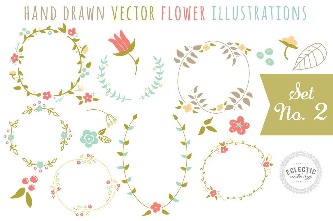 Hand Drawn Vector Flower Graphics ~ Illustrations ~ Creative Market