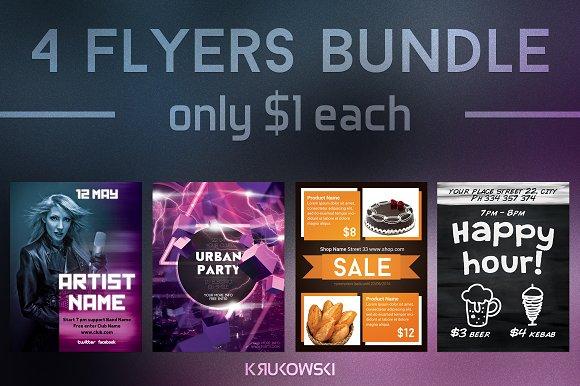 $1 Flyers Template Bundle vol. 4 - Flyers
