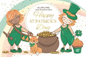 ST. PATRICK DAY Vector Illustration