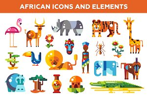African Icons and Elements Set