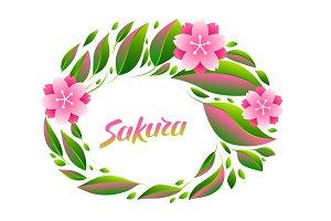 Background with sakura or cherry