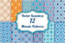 Set of 12 Mosaic Patterns