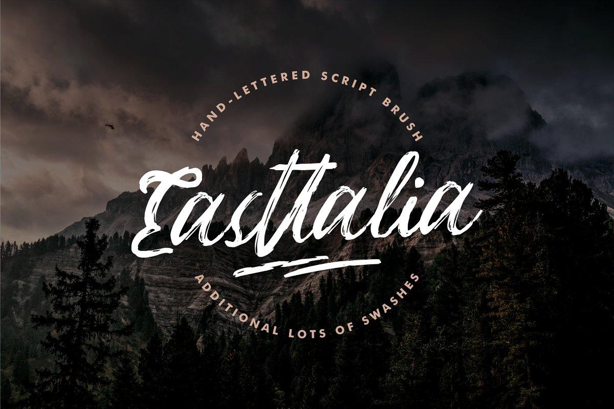 Easttalia - Handdrawn Script in Script Fonts - product preview 8