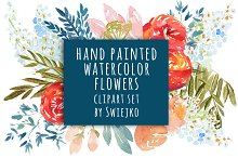 Watercolor Flowers, wedding clipart