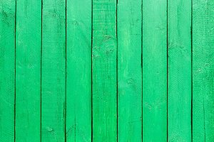 Emerald Green Wooden Background