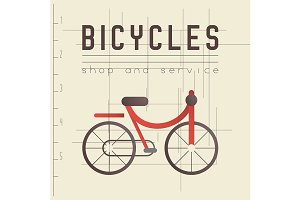Retro Sign for Bicycle Shop