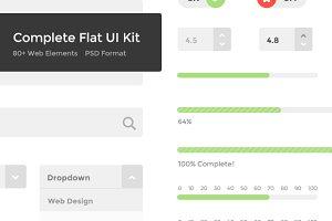 Complete Flat UI Kit (PSD)
