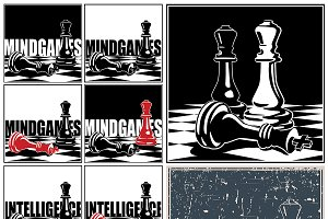 Chess illustrations mini Set