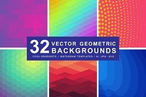 32 Super Geometric Patterns + Shapes