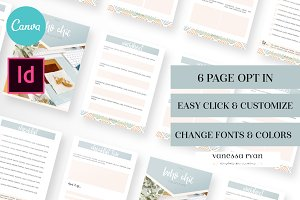 Boho Chic Canva Worksheet Template