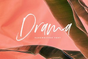 Drama | Script Font