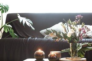 Cozy home interior living room