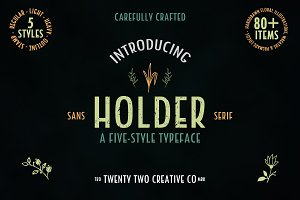 Holder Sans Typeface + Extras