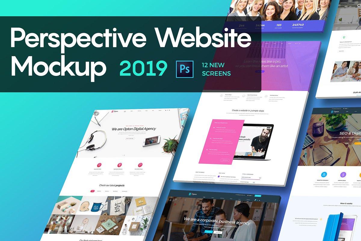 Perspective Website Mockup 2019 Creative Mobile Web Mockups