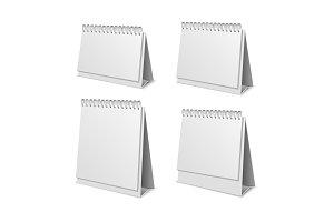 3d Paper Calendar Blank Set. Vector