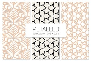 Petalled Seamless Patterns Set 2