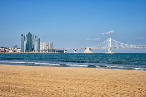 Gwangalli Beach in Busan, South