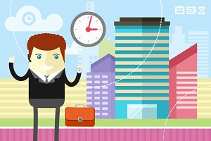 Businessman Control Time