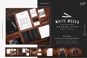 Barber Shop Identity Mock-ups Set