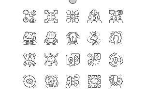 Brainstorm Line Icons