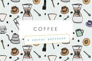 Coffee Illustration Pattern