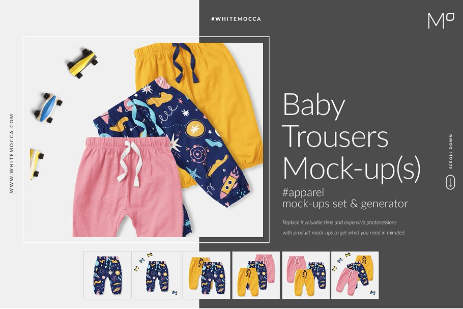 Baby Trousers Mock-ups Set Generator ~ Product Mockups ~ Creative Market 1c13f897d