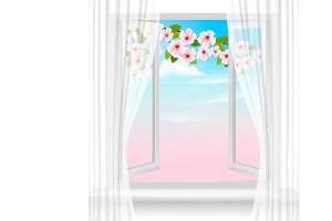 Nature spring background. Vector