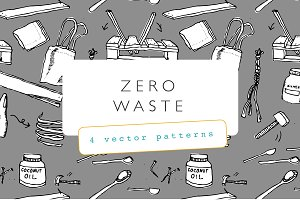 Zero Waste Illustration Pattern