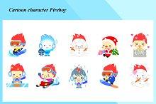 Cartoon characters - Fireboy