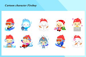 Cartoon characters - Fireboy