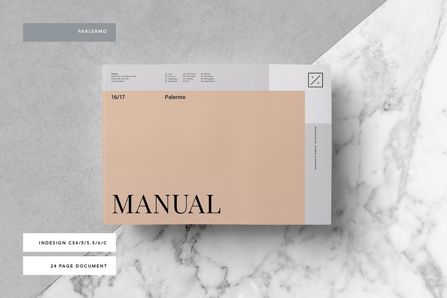 3aa8d7d1 Palermo Brand Manual ~ Brochure Templates ~ Creative Market