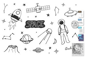 Cosmic icons set