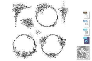 different rose wreath set