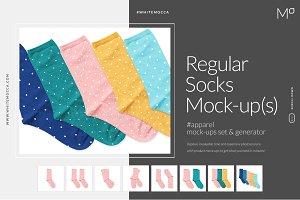 Socks Mockup Generator Mock-ups Set