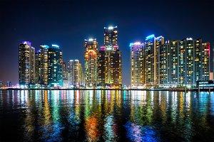 Busan Marina city skyscrapers