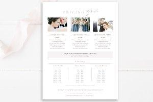 Wedding Photographer Price List PSD