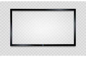 Lcd screen frame on transparent