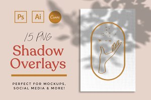 15 Shadow Mockup Overlays