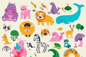 Illustration of wildlife animals
