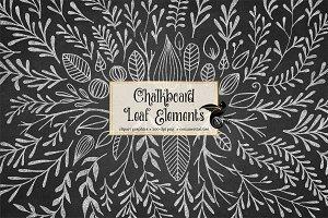Chalkboard Leaf Elements