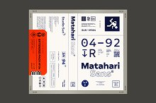 75% off Matahari Sans - Font Family by  in Sans Serif Fonts