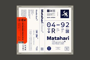 75% off Matahari Sans - Font Family