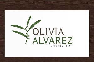 Olivia Alvarez Skin Care Logo - PSD