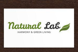 Natural Lab Logo - PSD Template