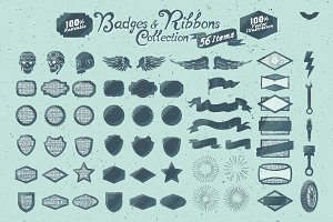 Badges & Ribbons Collection