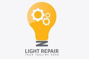 Light Repair Logo Template