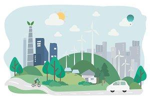 Environmental friendly city