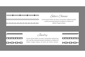 Silver Chains and Jewelry Set Vector